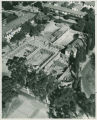 Aerial view of Memorial Gym construction, Pomona College