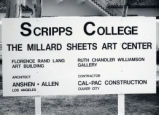 Millard Sheets Art Center construction sign, Scripps College
