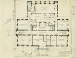 Physics laboratory first floor plan, Pomona College
