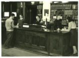 Carnegie Hall Library front desk, Pomona College