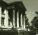 Carnegie Hall Library with people, Pomona College