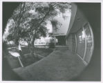 Marks Hall through fish-eye lens, Claremont McKenna College