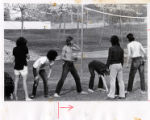 Students playing football. Pitzer College