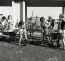 Students planting an orange tree, Pitzer College