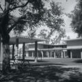 Thomas-Garrett Hall and bicycle, Harvey Mudd College