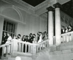 Students at a formal event, Pomona College