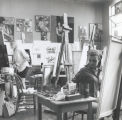 Students painting, Scripps College
