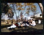 Students on Pellissier Mall, Pitzer College
