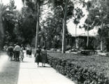 College Avenue, women walking, Pomona College