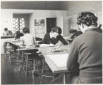 Students sketching, Scripps College