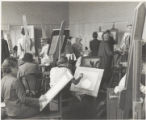 Students in art studio, Scripps College