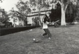 Student at bat, Scripps College