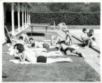 Students sunbathing, Harvey Mudd College