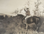 Student on horseback, Scripps College