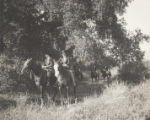 Students on horseback, Scripps College