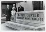 Bauer Center sign, Claremont McKenna College