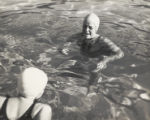 Students swimming, Scripps College