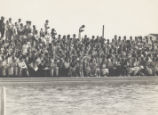 Spectators at pool, Scripps College
