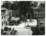 Crookshank Hall, overhead view, Pomona College