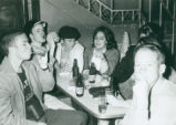 Students drinking beer, Harvey Mudd College