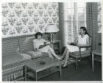 Women reading, dormitory room, Pomona College