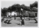 Dancers on the lawn, Scripps College