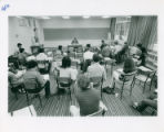 Students sitting in a classroom for off-campus study, Claremont McKenna College