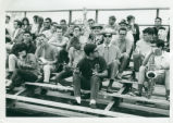 Bleachers and band, Harvey Mudd College
