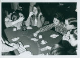 Card table at dorm party, Harvey Mudd College