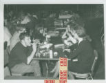 Students in cafeteria, Harvey Mudd College