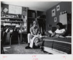 Two students sitting in a dorm room, Claremont McKenna College