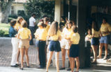 Students wearing yellow shirts, Claremont McKenna College