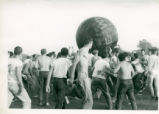 Students playing with a giant ball, Claremont McKenna College
