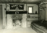 Interior of Sigma Tau fraternity cabin, Pomona College