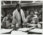 Science professor with students, Scripps College