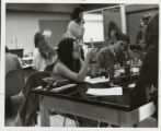 Two women in a science lab, Scripps College