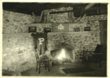 Inside the Phi Delta fraternity cabin, Pomona College