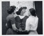 Women with painting, Scripps College