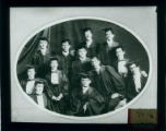 Pomona College class of 1899 in cap and gown