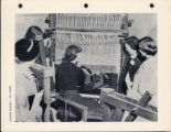 Women around a loom, Scripps College