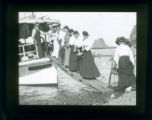 Women on boat, Pomona College