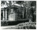 Holmes Hall and the college gate, Pomona College