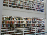 Book stacks inside the Honnold Mudd Library, Claremont University Consortium