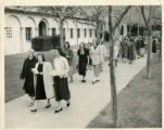 Scripps College students walking on campus