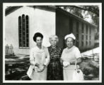 Wives of the first three Scripps Presidents at the Dedication of Drake Wing, Scripps College