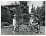 Bicycles in Harwood Court, Pomona College