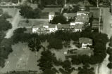 Aerial view of Harwood Court, Pomona College