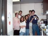 Students cooking in kitchen, Pomona College