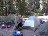 Setting up camp at Vivian camp