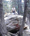 Chris on a rock at Saddle Junction